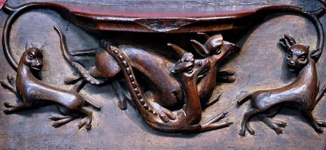 Miséricorde, cathédrale de la Sainte Trinité, (XIIe-XIIIe), Carlisle, Cumbria, Angleterre, Royaume-Uni