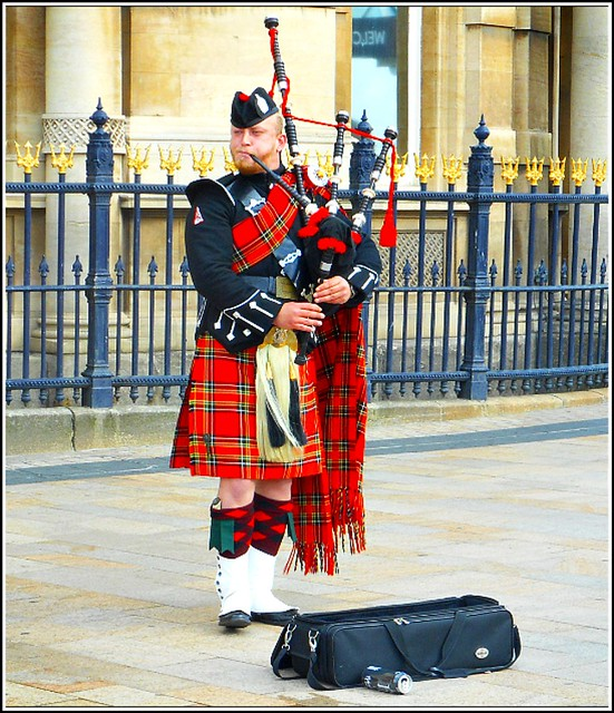 Lone Scottish Piper ...
