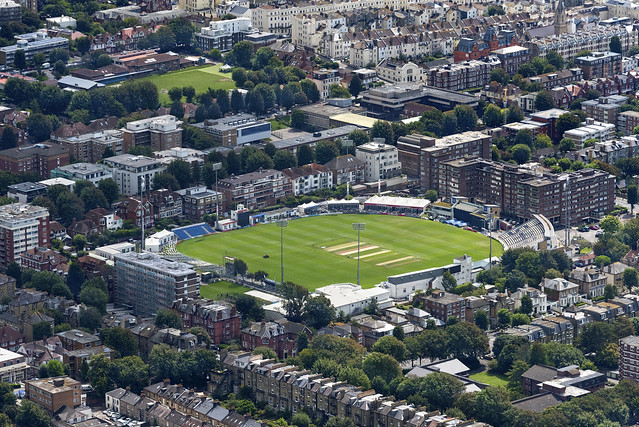Sussex County Cricket ground - Hove aerial image