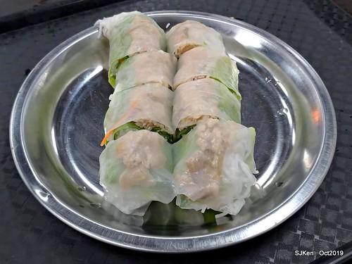 Vietnamese noodle & spring rolls at Nanman traditional market, Taipei, Taiwan, Oct 17, 2019