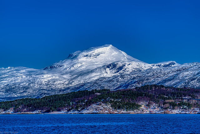 View of one of the mountains across the Ofotfjord from Narvik, Norway-29a