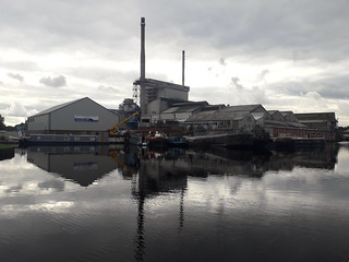 Former Harkers Boatyard and Allied Glass Knottingley Aire and Calder Navigation Yorkshire