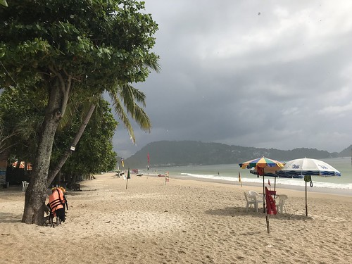 Patong Beach in the rain