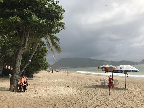Patong Beach in the rain