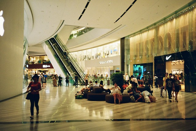 Jewel Changi Airport, Singapore  6 October 2019.  Olympus mju-1/Kodak Ultramax 400.