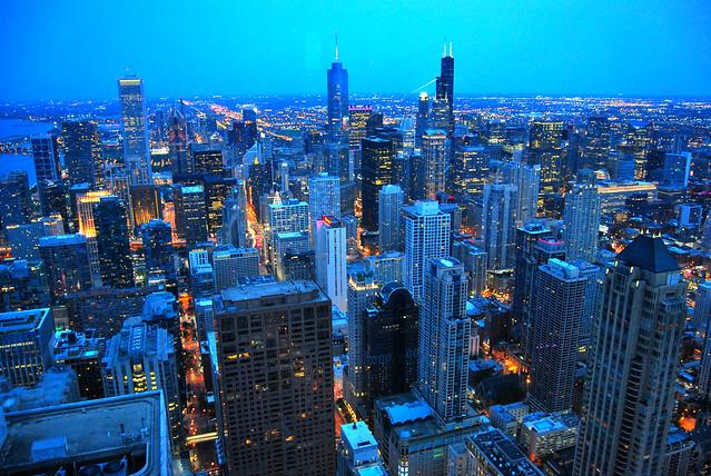 Chicago, blue hour