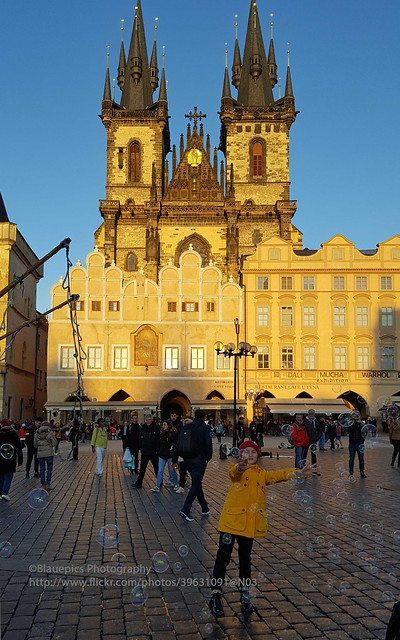 Prague, playing on Old Town Square