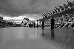 City of Arts and Sciences in Valencia & Sculptures by Plensa