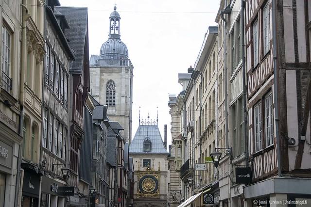 Rouenin vanhan keskustan taloja