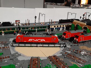 A line up of 3 TRAXX locomotives. 1 from Raised and 2 form BigDaedy.