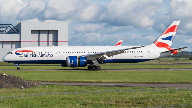 G-ZBKM - British Airways 787 @ Cardiff Airport 19/10/19