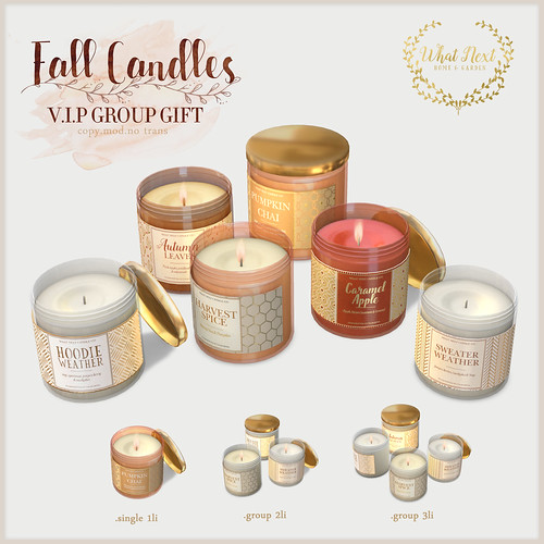 {what next} Fall Candles - VIP Group Gift