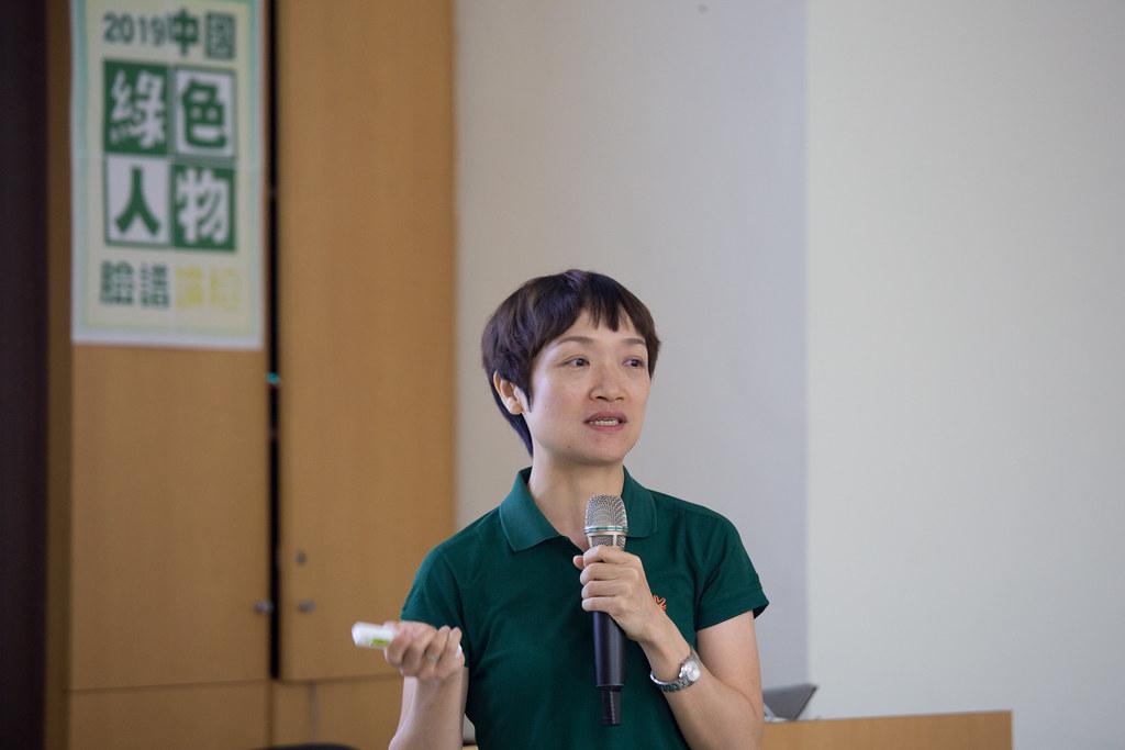 海口畓榃濕地研究所專案主任周志琴。吳宜靜攝。