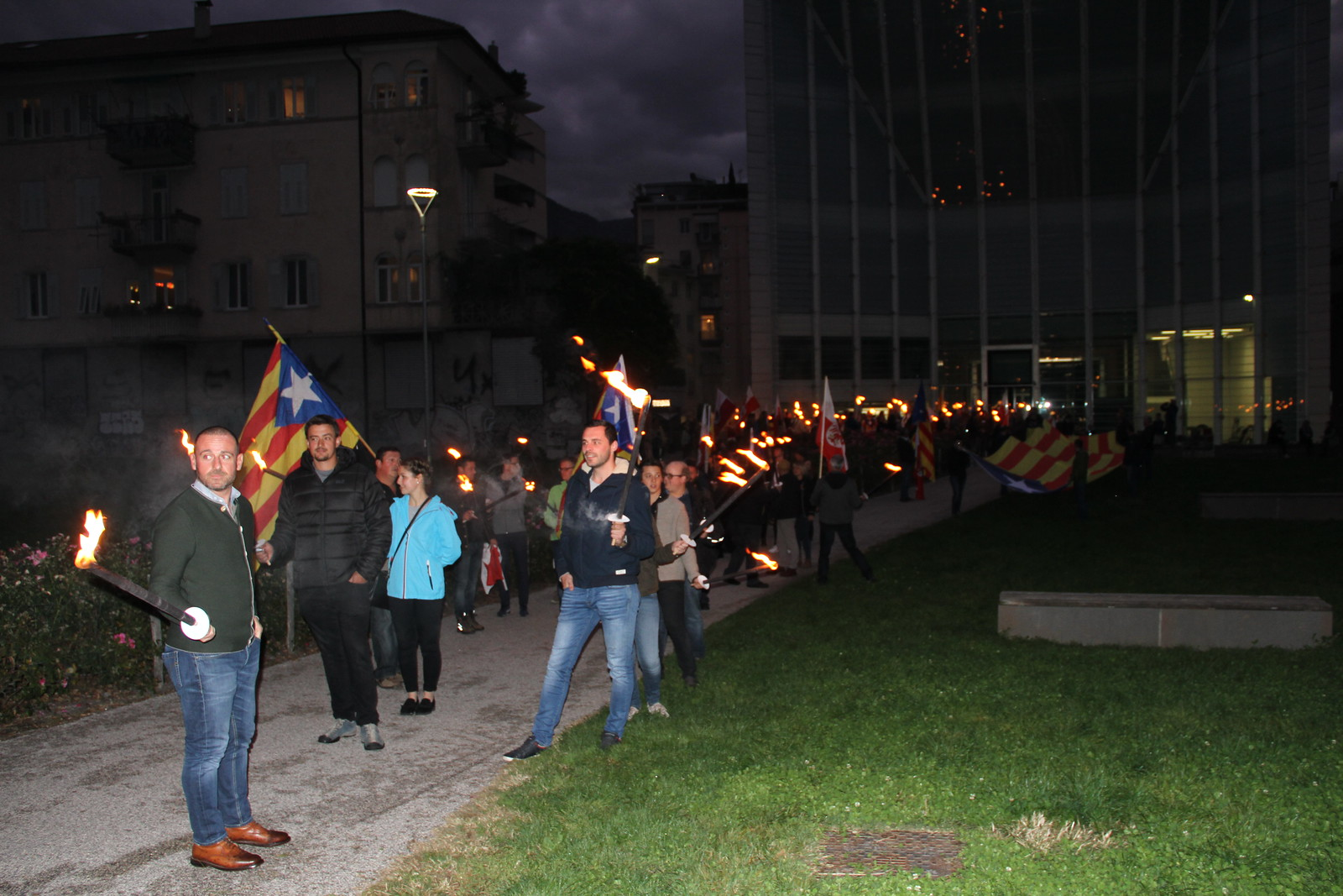 Fackelzug Katalonien in Bozen, 19.10.2019