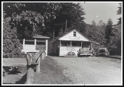 c. 1980 Photo - Same place that was Mr. Maconell's General Store & Post Office at Birken, British Columbia during the 1940's & 1950's
