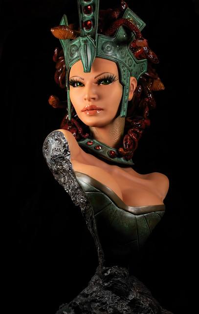 Medusa sculpture bust
