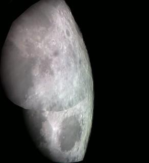 Moon Oct 14th 2019, close on moon's northeastern limb (Montage)