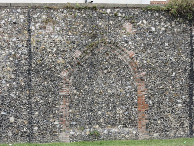 The Medieval Town Wall at Ferrier Road, Great Yarmouth, Norfolk