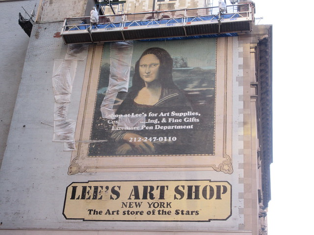 2019 Lee's Art Supply Building Mona Lisa Billboard Mural 5680