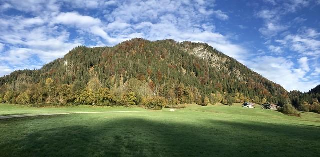 Mountain panorama in Mühlau near Kiefersfelden, Bavaria, Germany