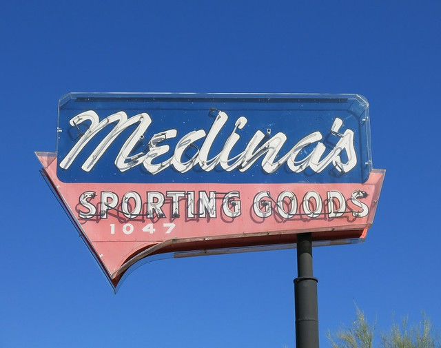 Medina's Sporting Goods - Tucson, AZ - Sign by Electrical Products Corp. 1956