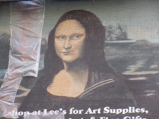 2019 Lee's Art Supply Building Mona Lisa Billboard Mural 5683