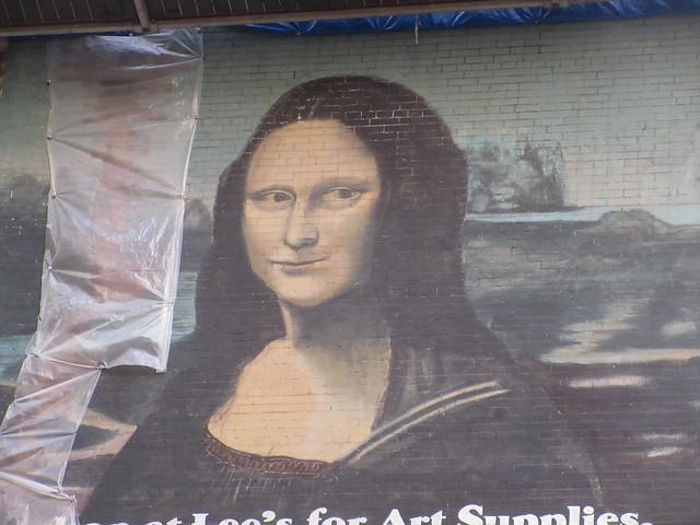2019 Lee's Art Supply Building Mona Lisa Billboard Mural 5682