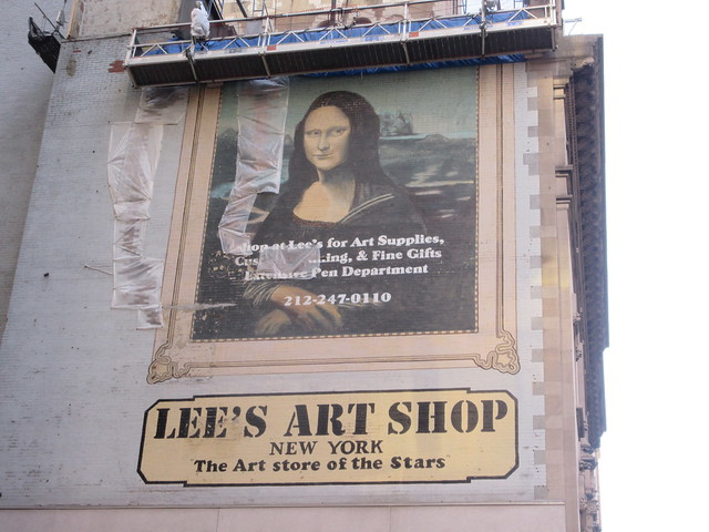 2019 Lee's Art Supply Building Mona Lisa Billboard Mural 5681