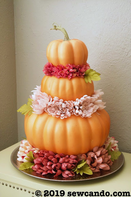 Fall Link Party Pumpkin Flower Tower Table Decor Portrait