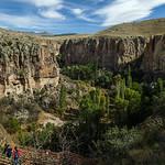 Descending to the valley floor of Ihlara Valley, Cappadocia