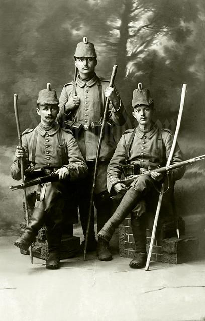Schütze W. Höregott and colleagues from the Garde-Schützen-Bataillon
