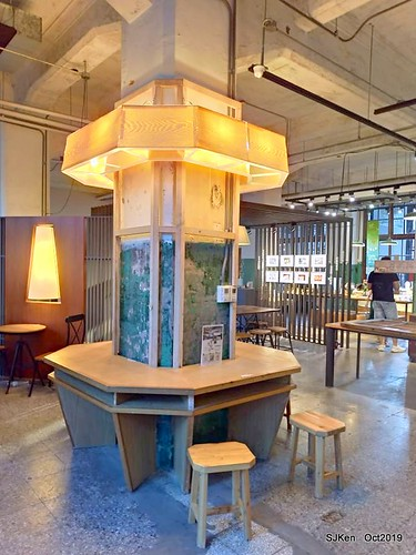 Coffee shop at the Songshan Cultural and Creative Park , Taipei, Taiwan, SJKen,  Oct, 2019