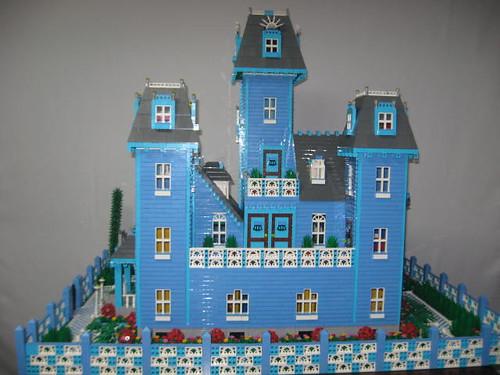 Blue Victorian Mansion