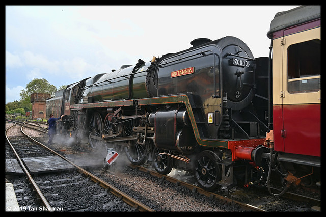 No 70000 Britannia 13th Oct 2019 Bluebell Railway Giants of Steam Gala