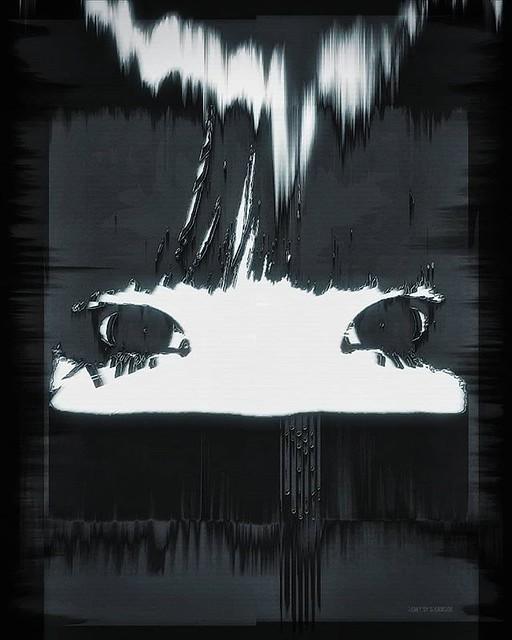 Sinister Eyes . . . . . #graphicdesigners #graphicdesign #portrait #photomanipulations #cyberpunk #cyberpunkart #cyberart #cyberwave #cybervibe #cyberpunkaesthetic #dark #darkart #darker #darkaesthetic #pixelsorting #pixelsort #pixelsorter #blackandwhite