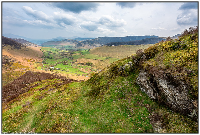 Newlands Valley from Knott Rigg area, Cumbria.