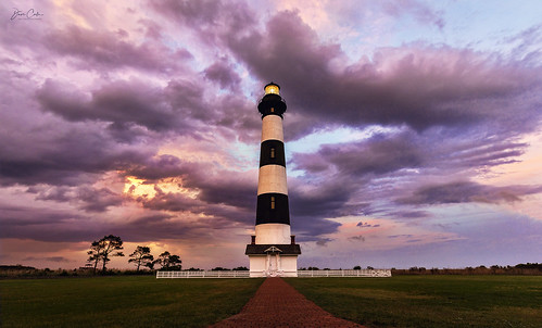 bodieisland lighthouse northcarolina outerbanks obx atlantic ocean sea sunset clouds landscape water