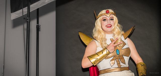 Blonde warrior princess.