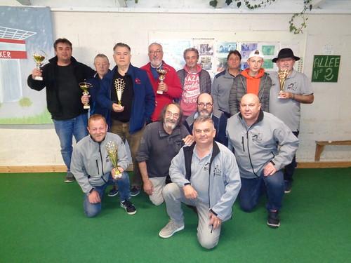 19/10/2019 - EMSM : Concours de boules plombées en triplette mêlée à Saint Martin des Champs