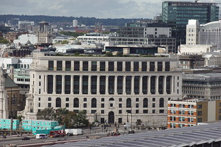 Unilever Building and Blackfriars Bridge, from Blavatnik Building, Tate Modern, Bankside, Borough of Southwark, London