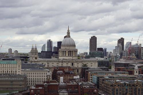 St. Pauls Cathedral, Sir Christopher Wren (Architect), from Blavatnik Building, Tate Modern, Bankside, Borough of Southwark, London (4)