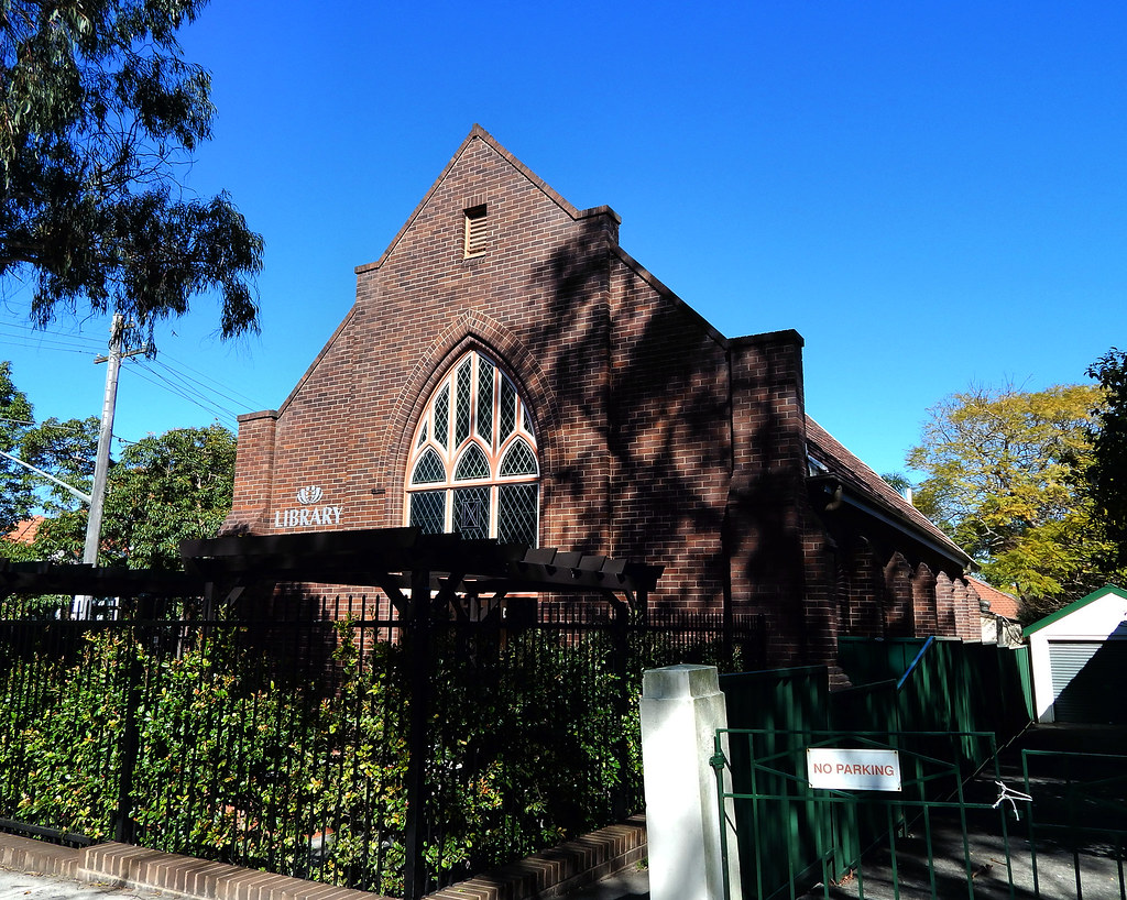 Ex Church, Willoughby Council Library, Northbridge, Sydney, NSW.