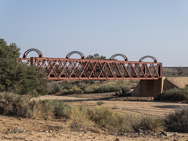 Namibia - bridge over dry riverbed