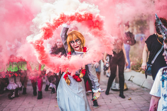 Wiccana of Valinor as Annabelle at Belgrade Zombie Walk