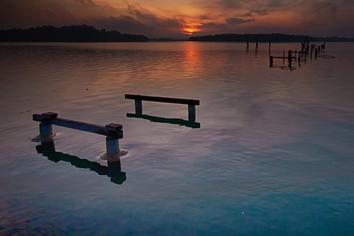 sunrise jetty pier coast seascape shoreline morning waterfront lumut perak malaysia travel place trip canon eos700d canoneos700d sigma sigmalens 10mm20mm wideangle happyplanet asiafavorites mentari