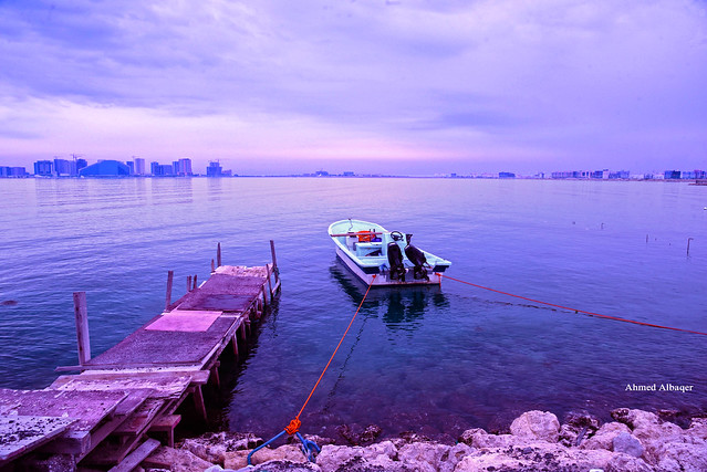 Small fishing boat anchorage قـــــــاربُُ و مرســــــــــــــــى