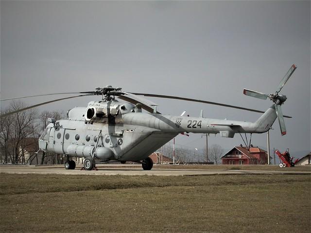 Mi-171Sh 224 Croatian-AF KFOR Heldet. Pristina heliport (Film City), Kosovo. February 2013.