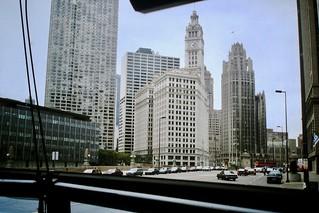 Found Photo - Wacker Drive, Chicago, 1990