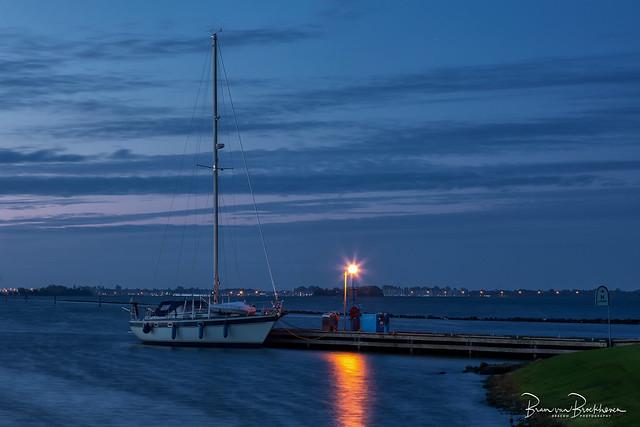 Marina at morning blue hour