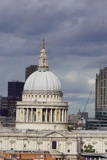 St. Pauls Cathedral, Sir Christopher Wren (Architect), from Blavatnik Building, Tate Modern, Bankside, Borough of Southwark, London (2)